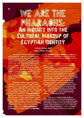 Page 12 of We Are The Pharaohs: An Inquiry Into The Cultural Makeup of Egyptian Identity