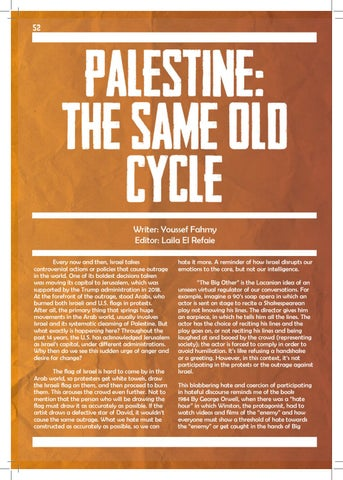 Page 52 of Palestine: The Same Old Cycle
