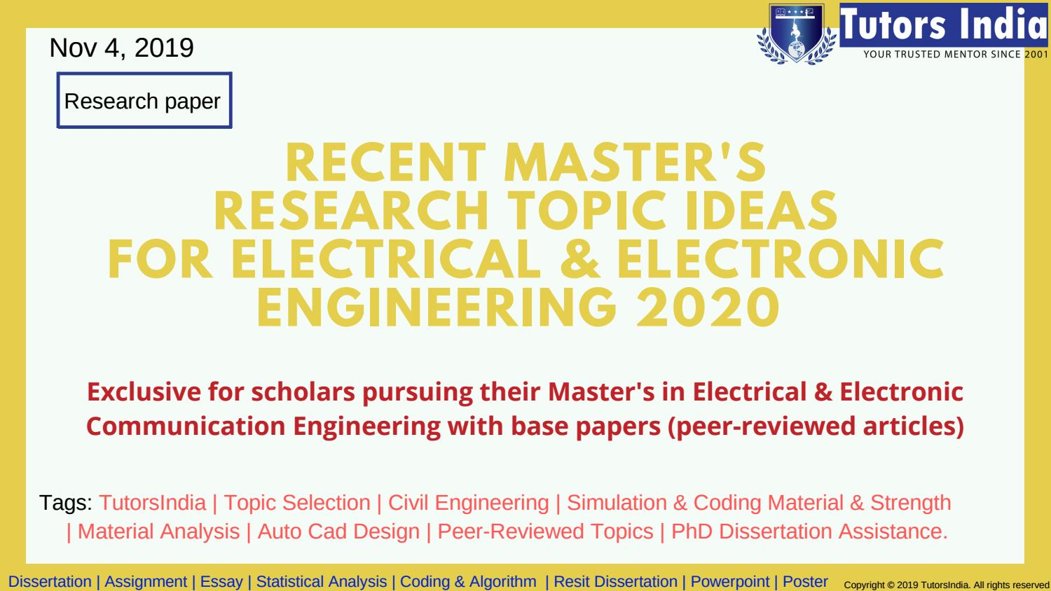 Research papers topics for electronics and communication best problem solving editor services gb