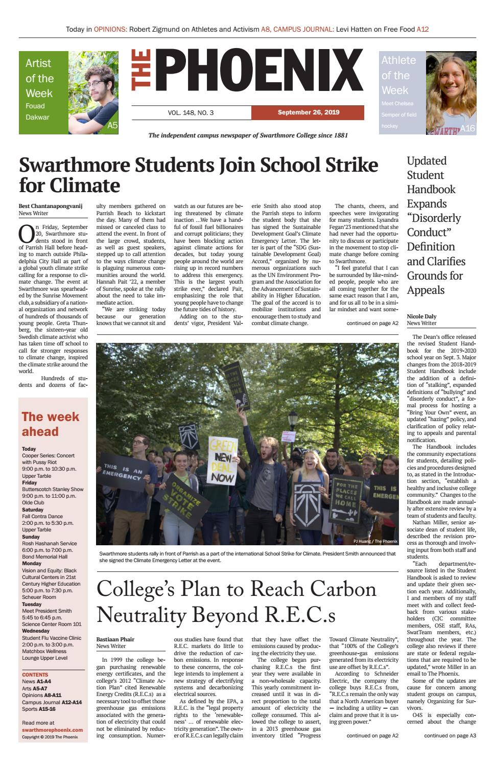 Swarthmore Courses Spring 2020.Swarthmore Phoenix September 26 2019 By The Phoenix Issuu