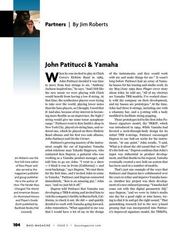 Page 104 of John Patitucci & Yamaha