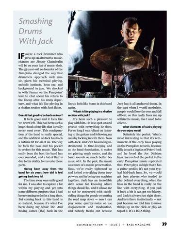 Page 39 of Jimmy Chamberlin of The Smashing Pumpkins