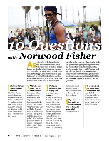 Page 6 of 10 Questions With Norwood Fisher