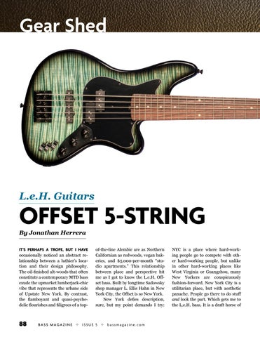 Page 88 of Review: L.E.H. Guitars Offset 5-string