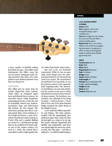 Page 89 of Review: L.E.H. Guitars Offset 5-string