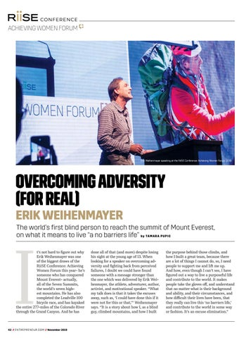 Page 42 of Erik Weihenmayer- Overcoming Adversity (For Real)