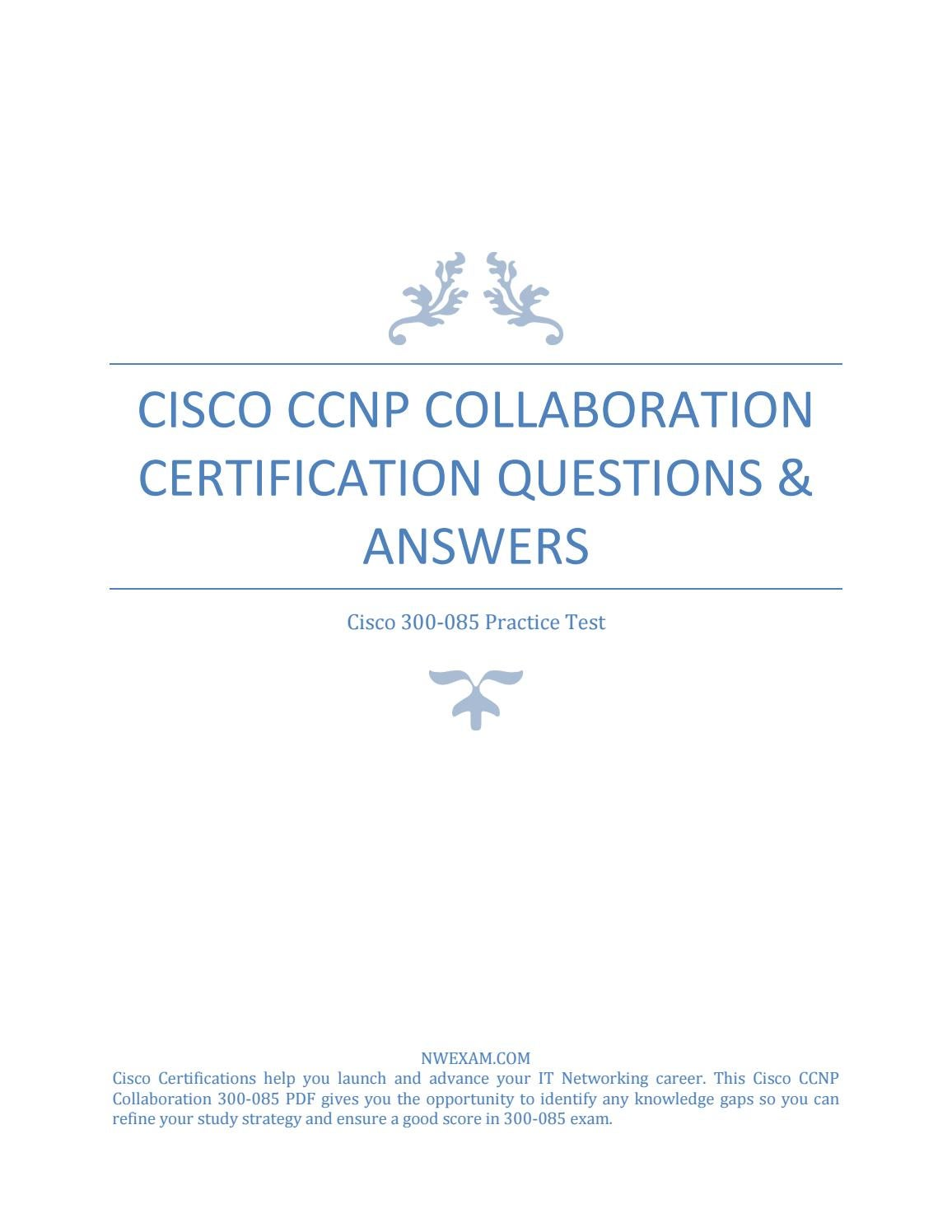 300 085 Ccnp Collaboration Certification Questions Answers