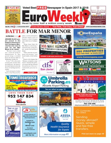 Euro Weekly News Costa Blanca South 7 13 November 2019