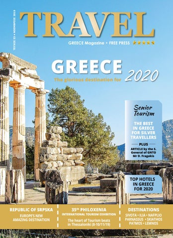 Page 1 of TRAVEL GREECE Magazine - November 2019 issue