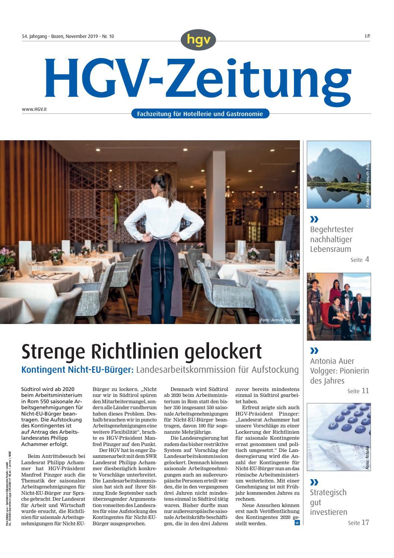 November Ausgabe der HGV Zeitung by HGV Service