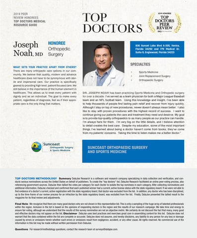 Page 13 of Top Doctors Profile: Joseph Noah MD