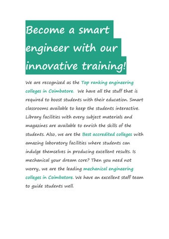 Page 1 of Become a smart engineer with our innovative training!