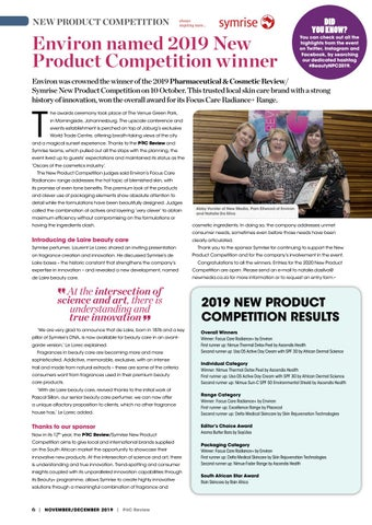 Page 6 of Environ named 2019 New Product Competition winner