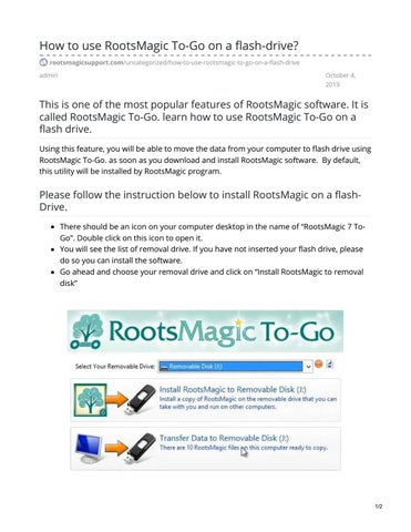 Page 1 of RootsMagic