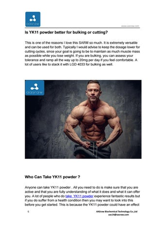 Page 6 of Benefits of YK11 powder