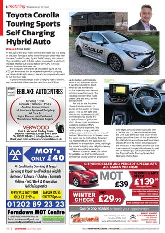 Page 46 of TEST DRIVE: Toyota Corolla Touring Sports Self Charging Hybrid Auto