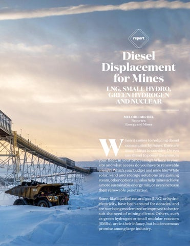 Page 13 of Diesel Displacement for Mines - LNG, Small Nuclear, Green Hydrogen and Small Hydroll