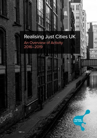 Page 1 of Realising Just Cities UK - report out now