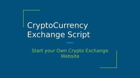 start own crypto exchange