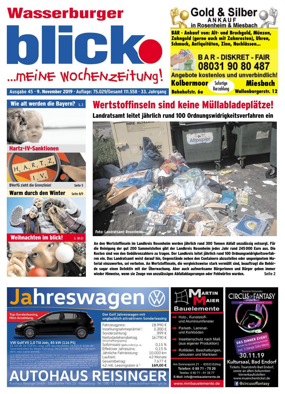 Wasserburger Blick Ausgabe 45 2019 By Blickpunkt Verlag Issuu