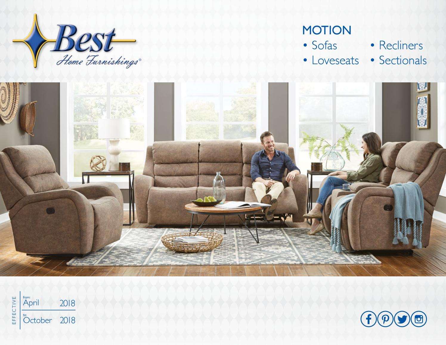 Best Home Furnishings Motion Catalog Spring 2018 by Best