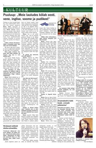 """Page 6 of Puuluup: ,,Meie lauludes kõlab eesti, vene, inglise, soome ja pudikeel"""""""