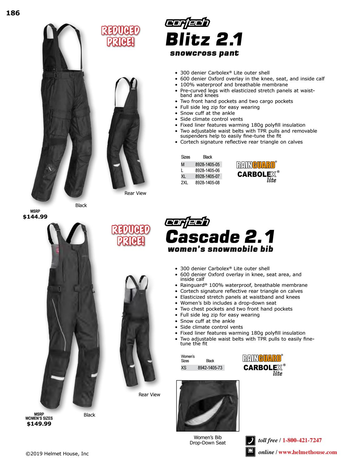 Cortech Blitz 2.1 Snow Pants XXL Black 8928-1405-08
