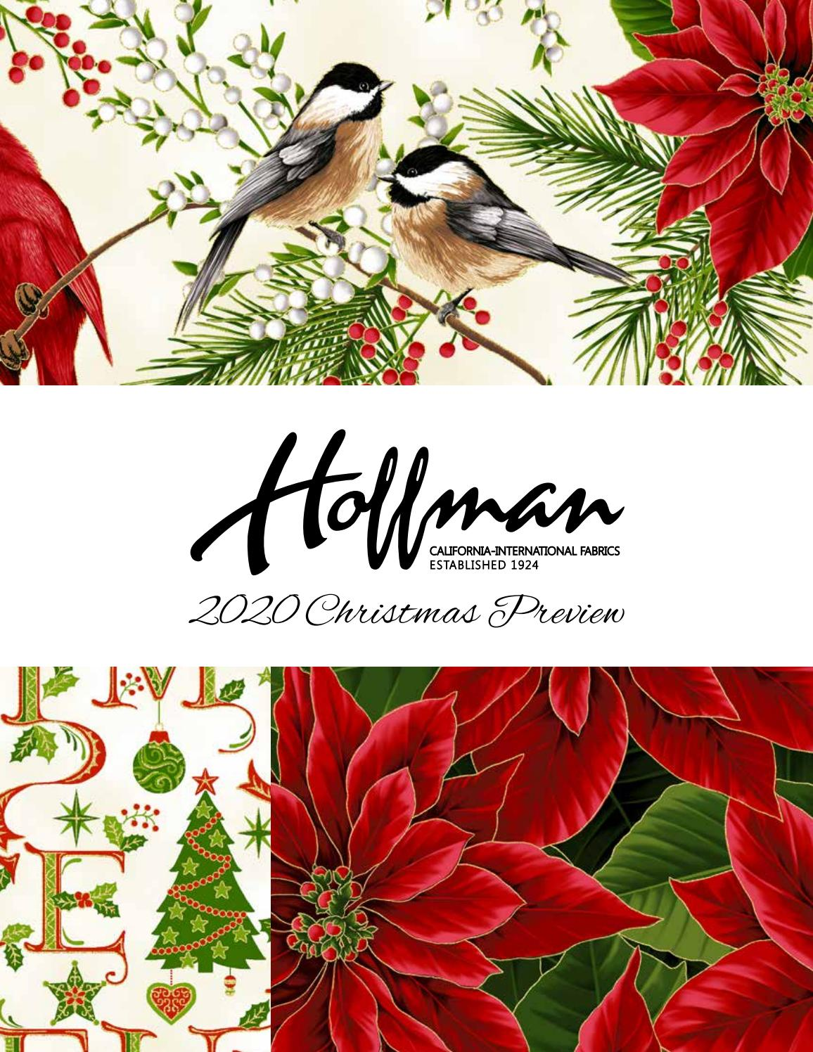 Christmas Fabric 2020 Christmas 2020 Preview by Hoffman California Fabrics   issuu