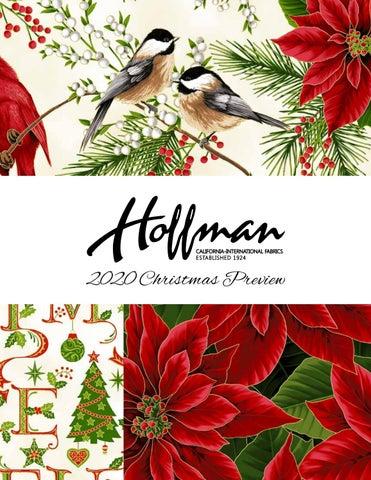 Hoffman Christmas Fabric 2020 Christmas 2020 Preview by Hoffman California Fabrics   issuu