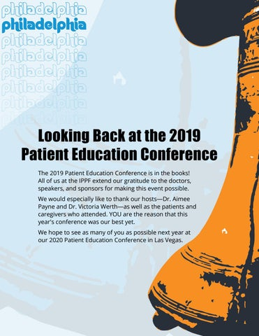 Page 10 of Looking Back at the 2019 Patient Education Conference