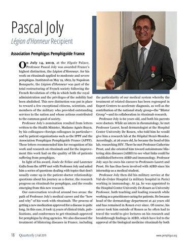 Page 18 of Pascal Joly LÉGION D'HONNEUR RECIPIENT