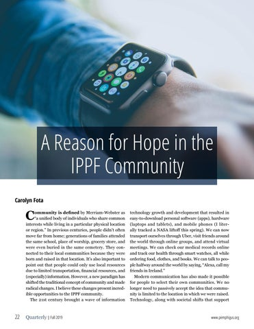 Page 22 of A Reason for Hope in the IPPF Community
