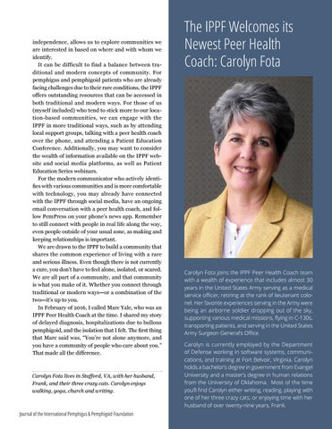 Page 23 of The IPPF Welcomes its Newest Peer Health Coach: Carolyn Fota