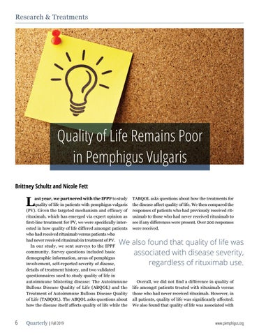 Page 6 of Quality of Life Remains Poor in Pemphigus Vulgaris