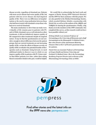 Page 7 of Quality of Life Remains Poor in Pemphigus Vulgaris
