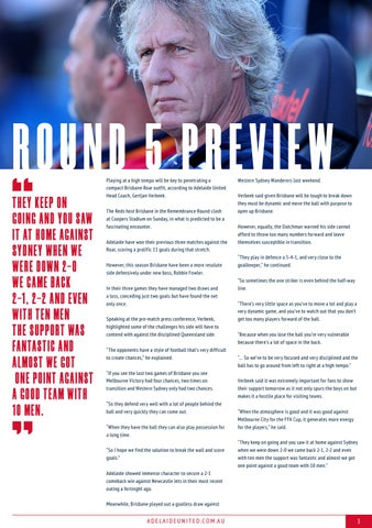 Page 3 of Adelaide United vs Brisbane Roar - Hyundai A-League Round 5 Preview