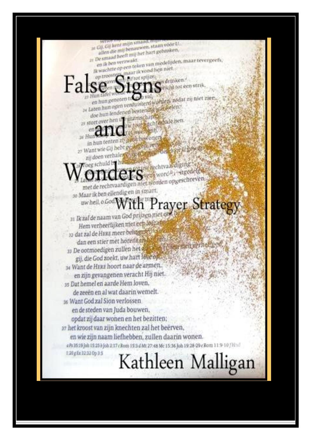 False Signs And Wonders With Prayer Strategy By Kathleen