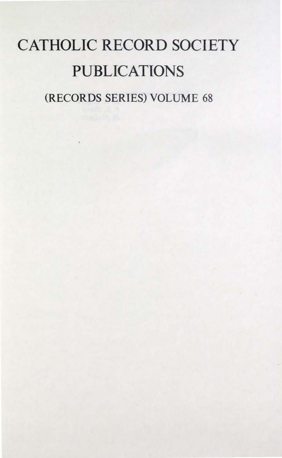 Records Volume 68 Spain And The Jacobean Catholics Volume 2 By The Catholic Record Society Issuu