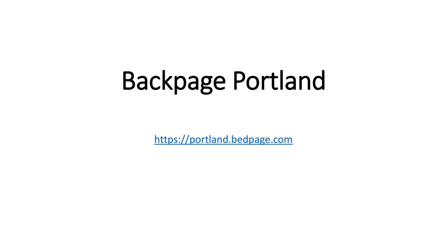 Www backpage com portland