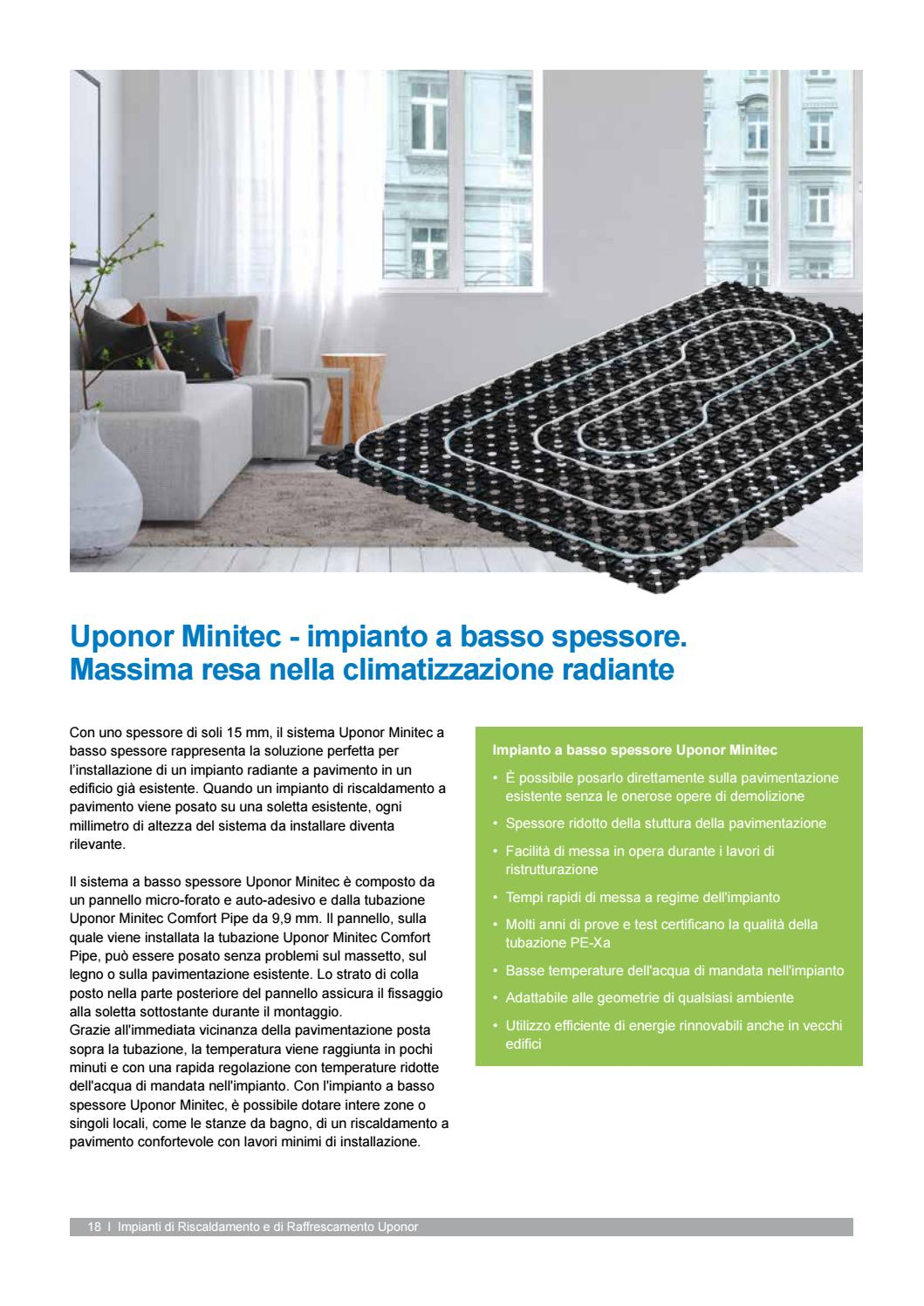 Temperatura Mandata Impianto A Pavimento scheda info minitec by uponorit - issuu