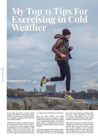 Page 20 of My Top 11 Tips For Exercising in Cold Weather