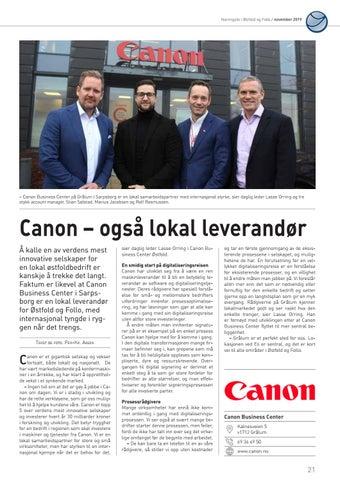 Page 21 of Canon - også lokal leverandør