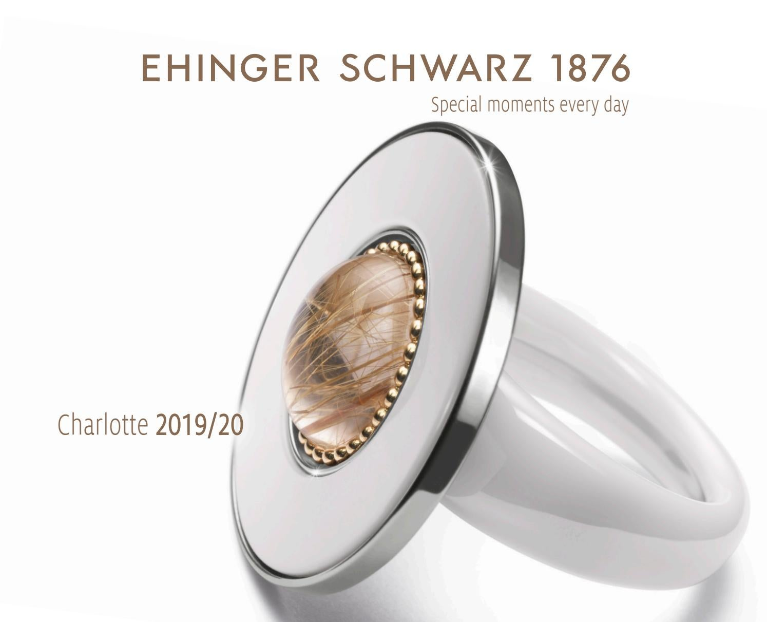 Schmuck-Schmidt-Ohrstecker Black Saphir-Herz Silber-Rhodiniert 0,70 Karat