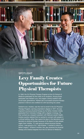 Page 27 of Levy Family Creates Opportunities for Future Physical Therapists