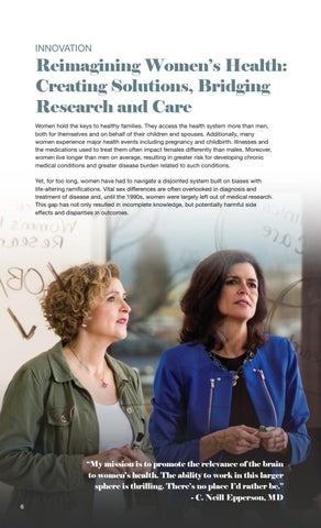 Page 8 of Reimagining Women's Health: Creating Solutions, Bridging Research and Care