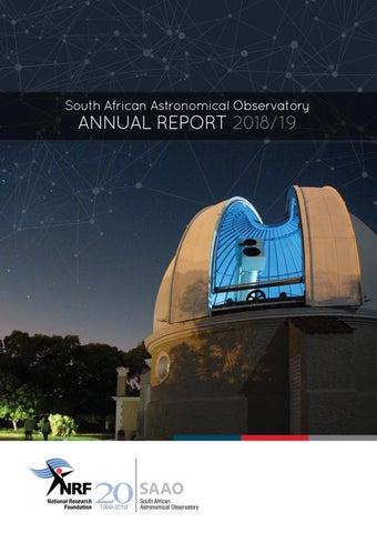 SAAO Annual Report 2018/19 by saaoreport - issuu
