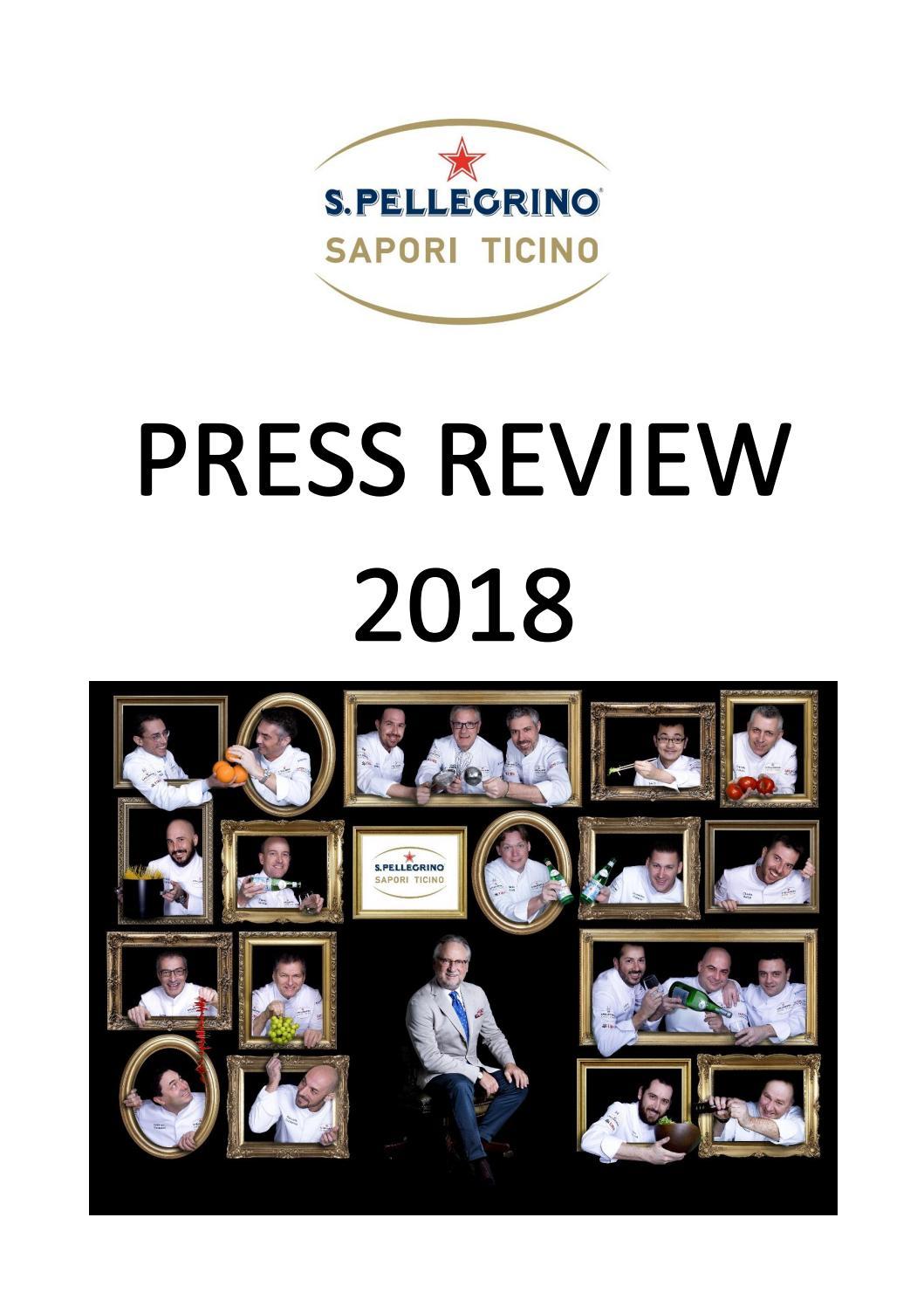 Rassegna Stampa S Pellegrino Sapori Ticino 2018 By Info Saporiticino Issuu