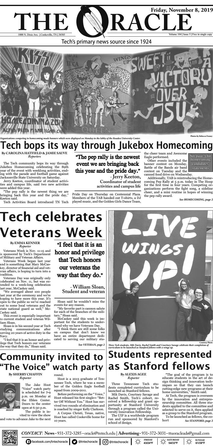 The Oracle November 8 2019 By Tn Tech Oracle Issuu