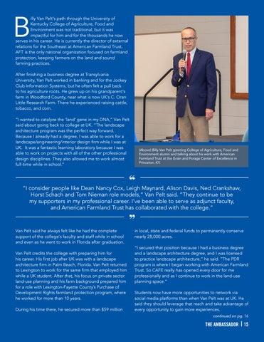 Page 15 of Alumni Focus - Billy Van Pelt II