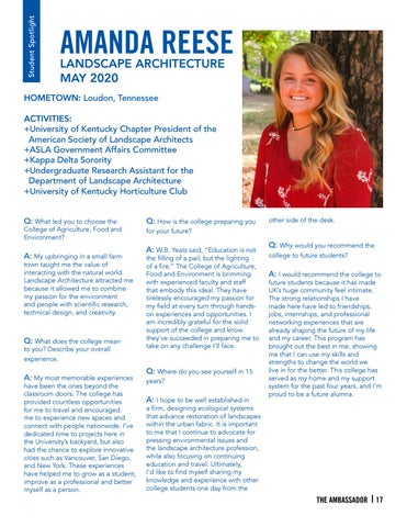 Page 17 of Student Spotlight - Amanda Reese